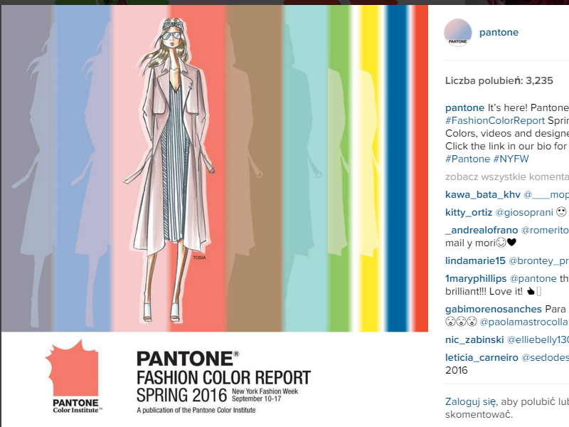najmodniejsze kolory 2016 - pantone