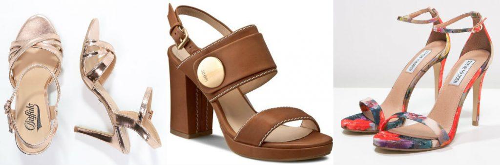 Letnie buty na obcasie (fot. zalando.pl, domodi.pl)