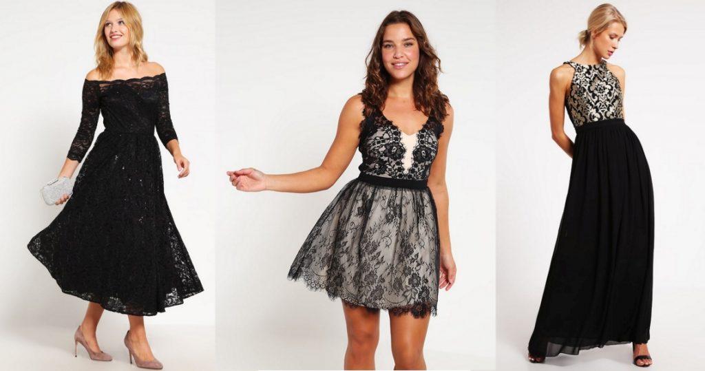 czarna sukienka na wesele model
