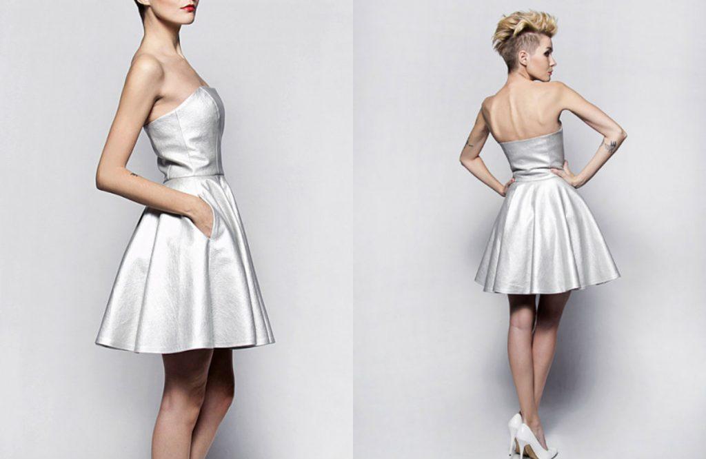 Sukienka FINE SILVER (szyjemysukienki.pl)