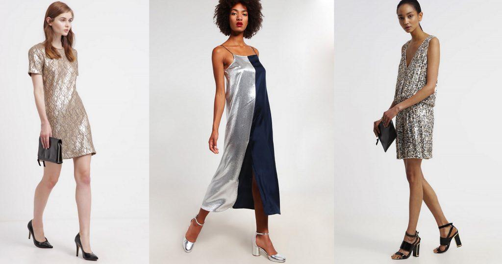 sukienki sylwestrowe złote i srebrne