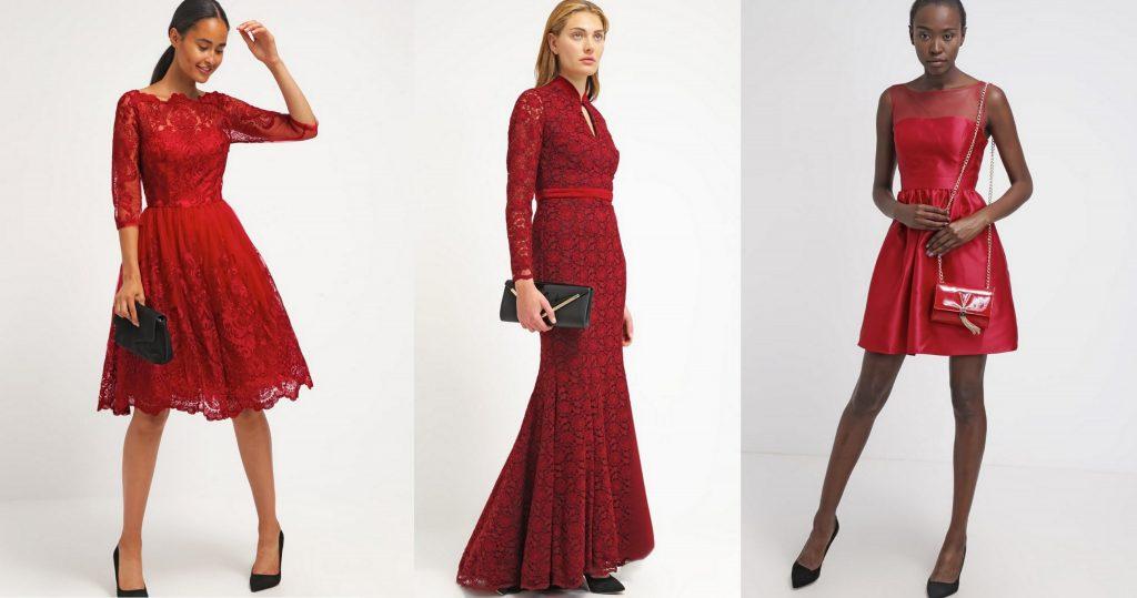 sukienki sylwestrowe czerwone