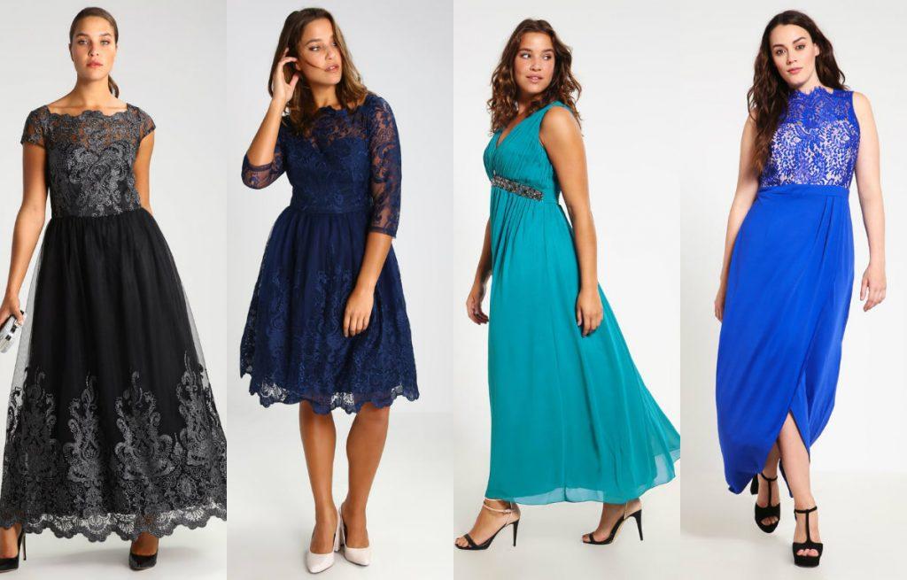 Wybrane sukienki na studniówkę dla puszystych (fot. zalando.pl)