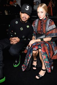 NEW YORK, NY - OCTOBER 19: Chance the Rapper and Chloe Sevigny attend KENZO x H&M Launch Event Directed By Jean-Paul Goude' at Pier 36 on October 19, 2016 in New York City. (Photo by Dimitrios Kambouris/Getty Images for H&M)