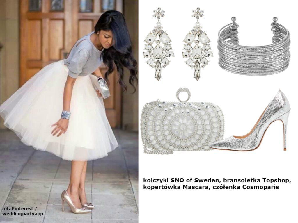 srebrne dodatki do sukienki sylwestrowej