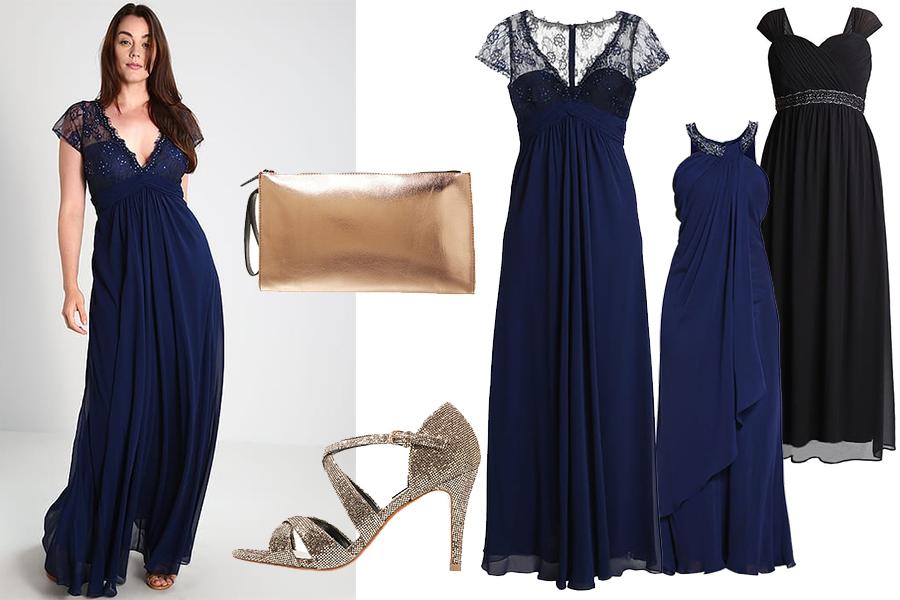 Stylizacje na studniówkę: suknie plus size (fot. zalando)