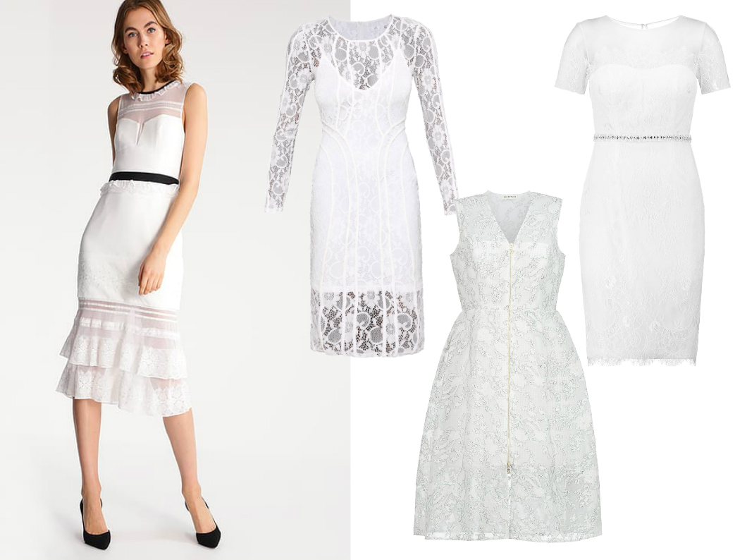 biała sukienka na komunię dla mamy