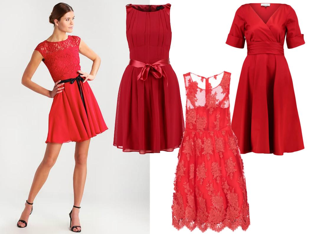 sukienka na komunię dla mamy czerwona