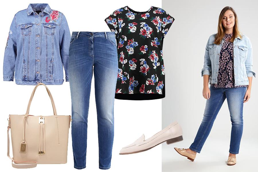 Jeansy dla puszystych w modnej stylizacji (kolaż redakcja, materiały partnera)