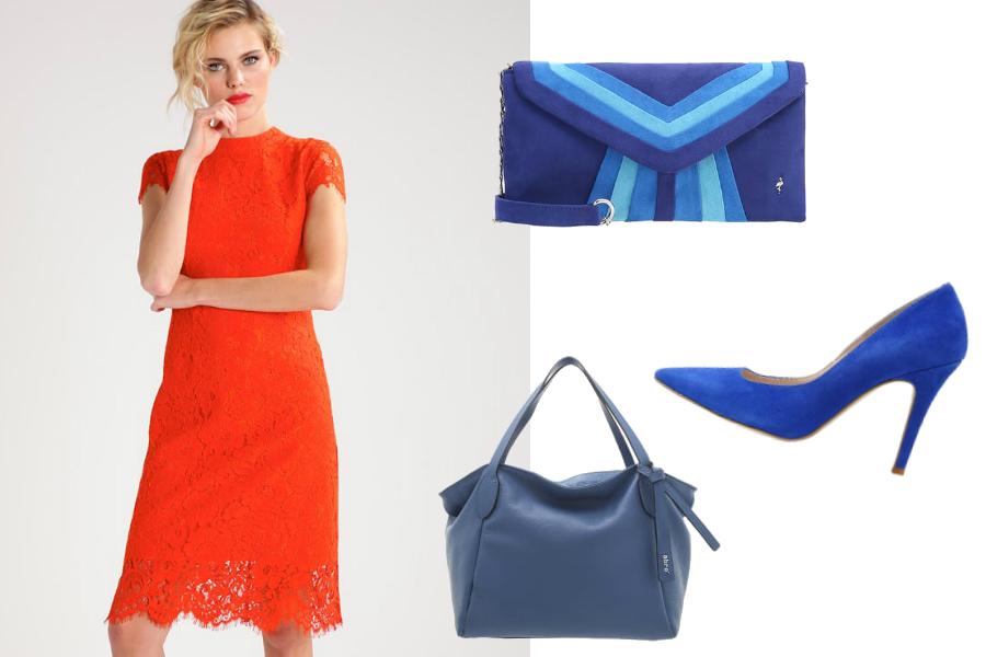 pomarańczowa sukienka kobalt