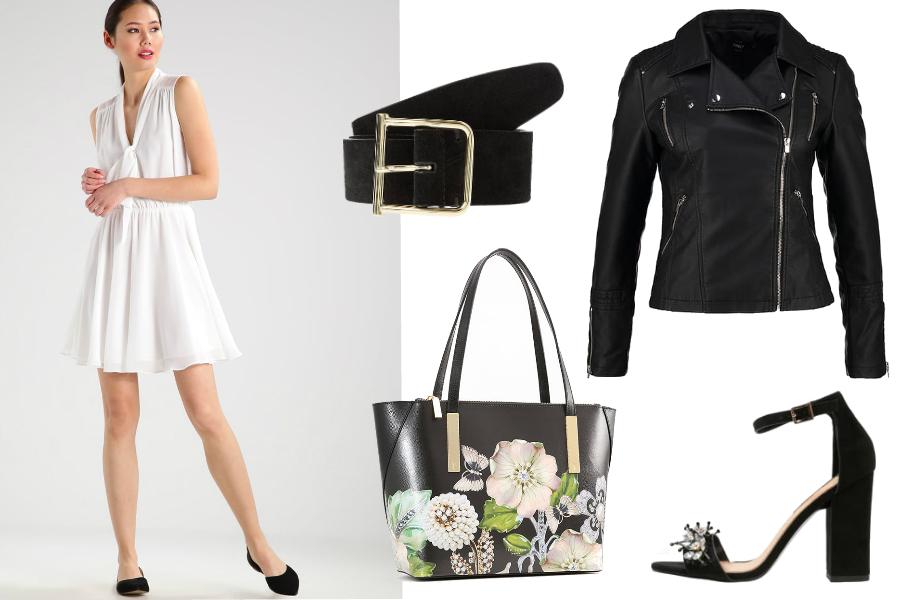 biała sukienka jakie dodatki czarne