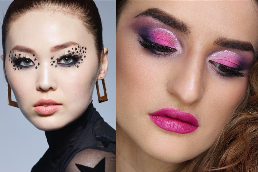 Modny makijaż oczu 2018 (materiały Rimmel, Mac Cosmetics)