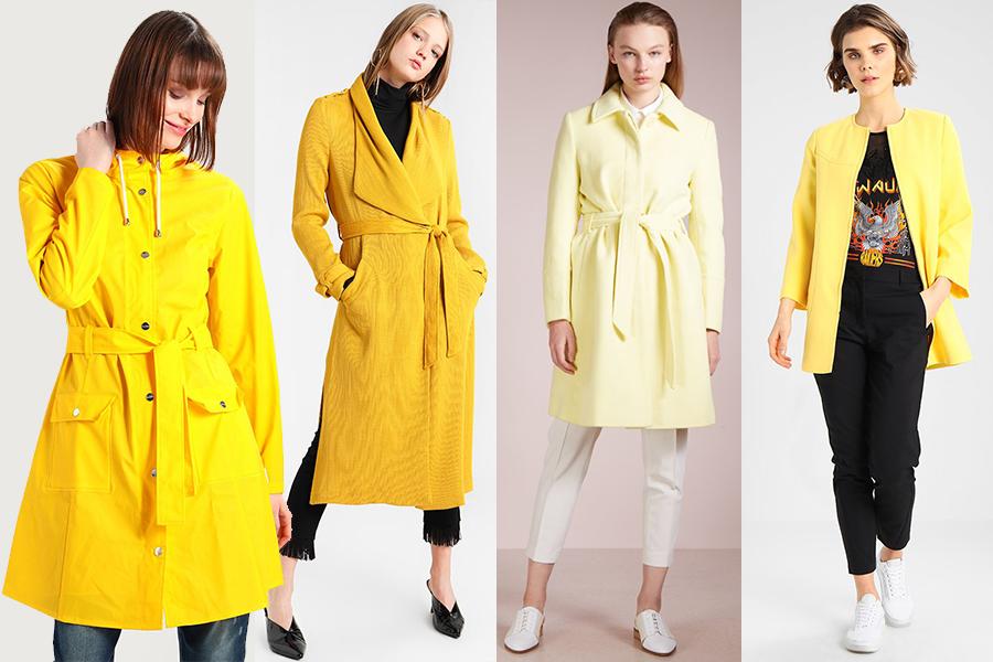 Żółty płaszcz - hit sezonu (kolaż redakcja, materiały Zalando)