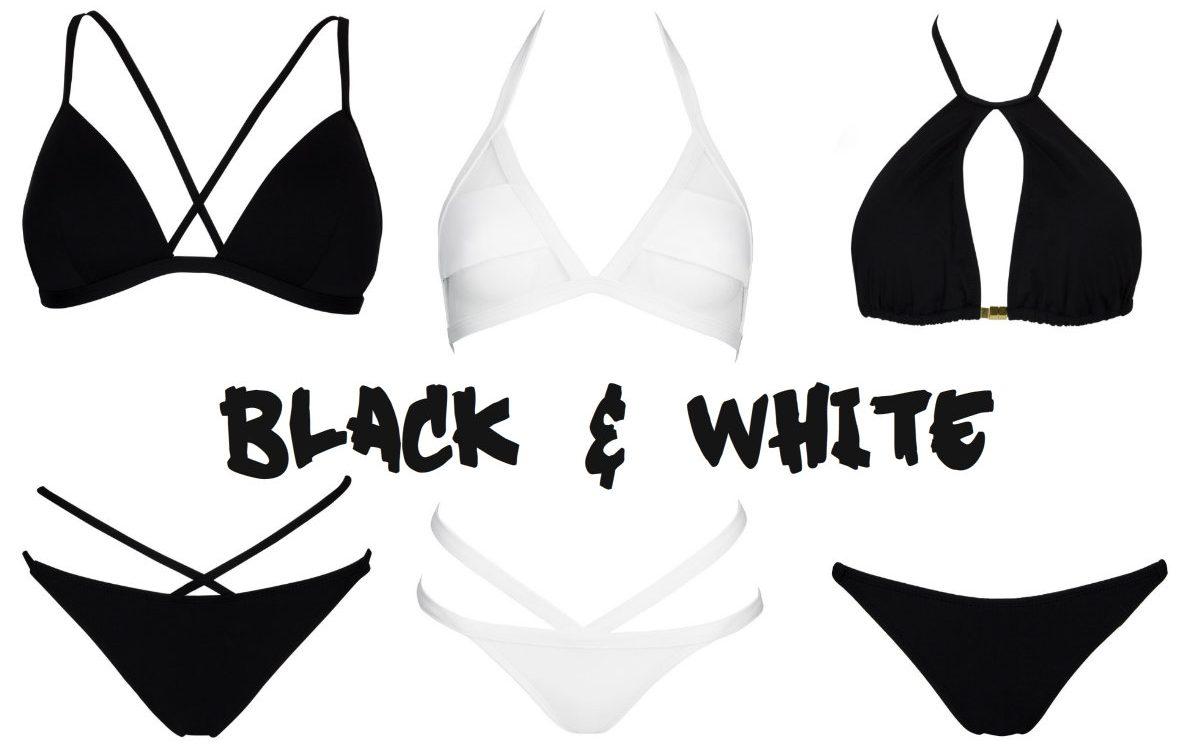 Kostiumy kąpielowe SHE – black&white w pasiastym wydaniu