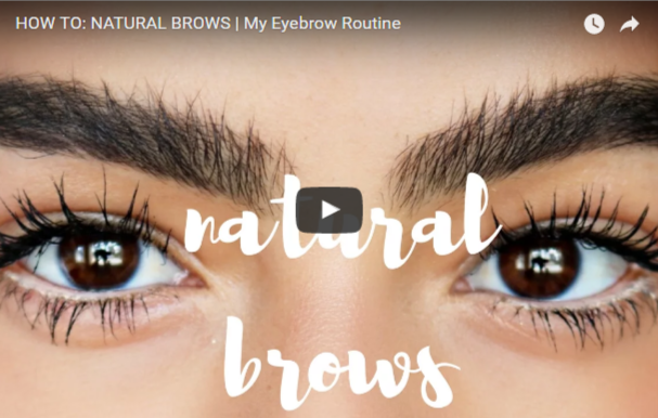 feathered brows