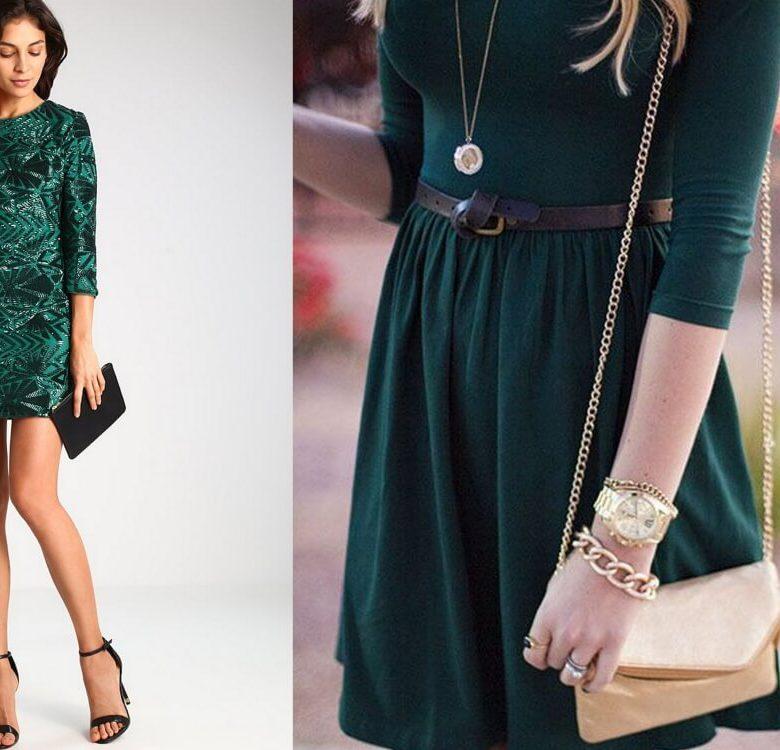 Sukienka butelkowa zieleń: z czym ją nosić?
