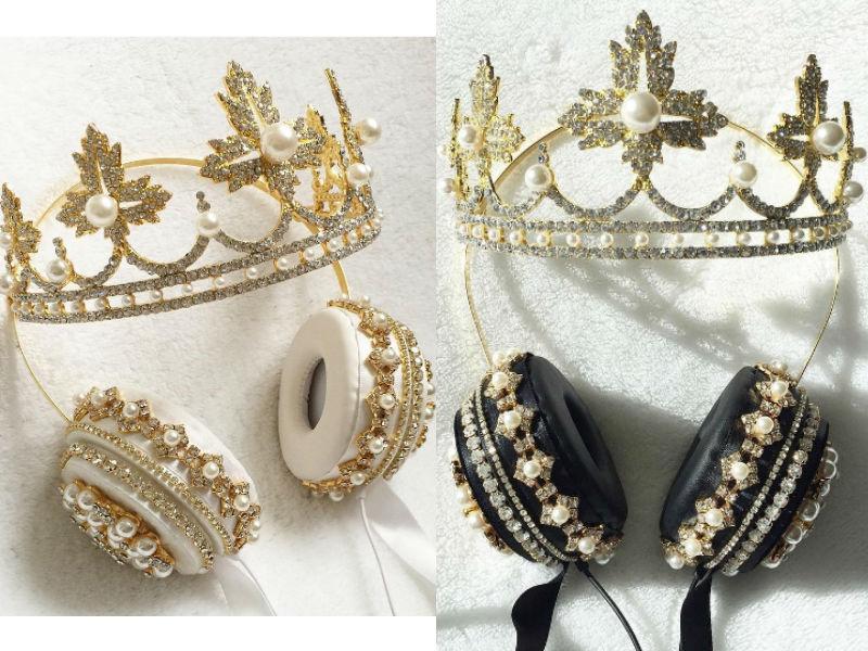 Słuchawki w kształcie korony