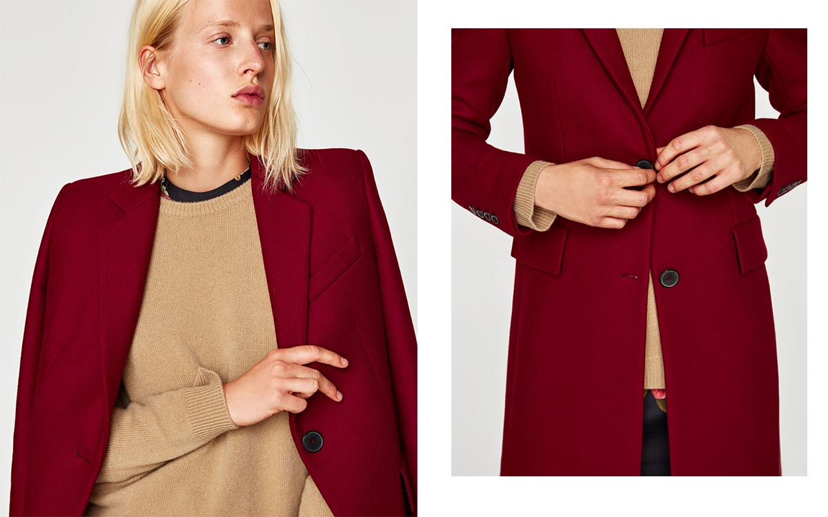 Czerwony płaszcz: Stylizacje