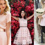 Jakie dodatki do sukienki pudrowy róż?