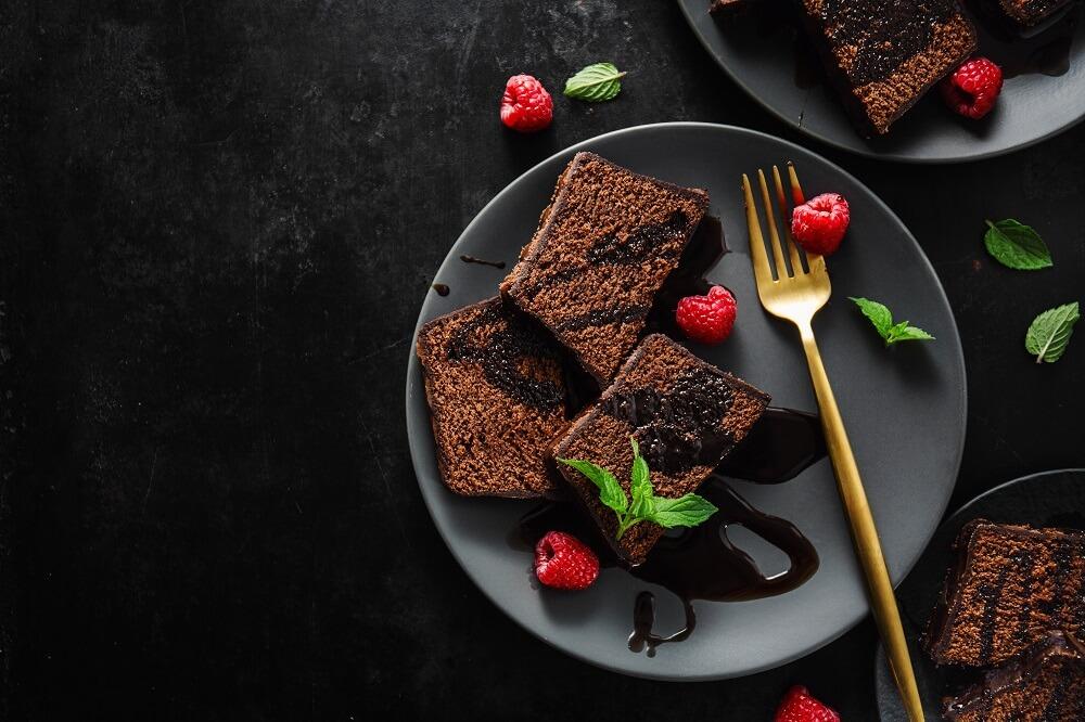 fit ciasto czekoladowe z malinami