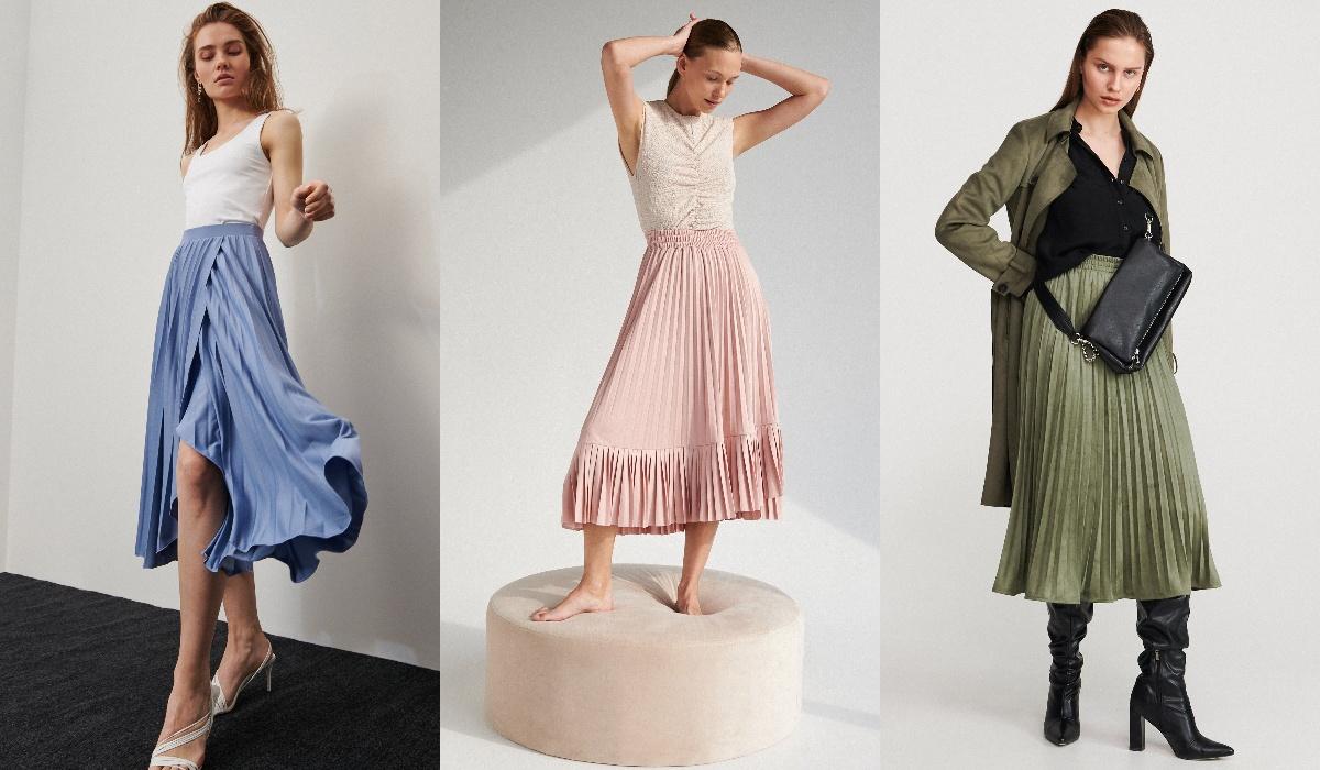 Reserved spódnice plisowane