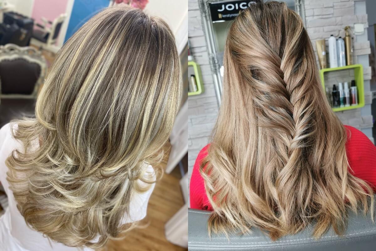 sombre na włosach blond